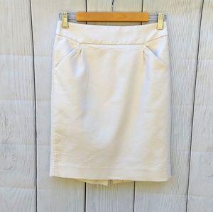 J.crew cream pencil skirt